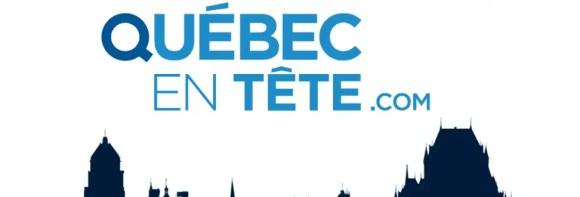 Logo da Quebec en Tete, agência da cidade de Quebec, Québec, Canadá