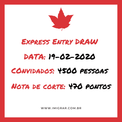 Draw recorde na imigracao canada - Express Entry
