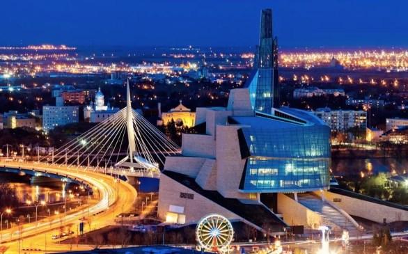 Cidade de Winnipeg em Manitoba, Canada