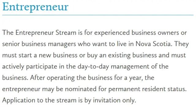 Entrepreneur - Nova Escócia