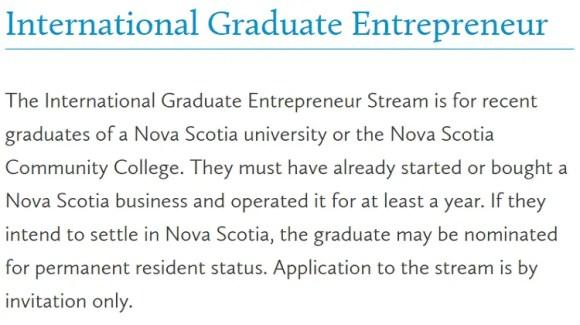International Graduate Entrepreneur