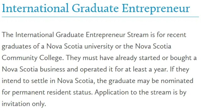International Graduate Entrepreneur