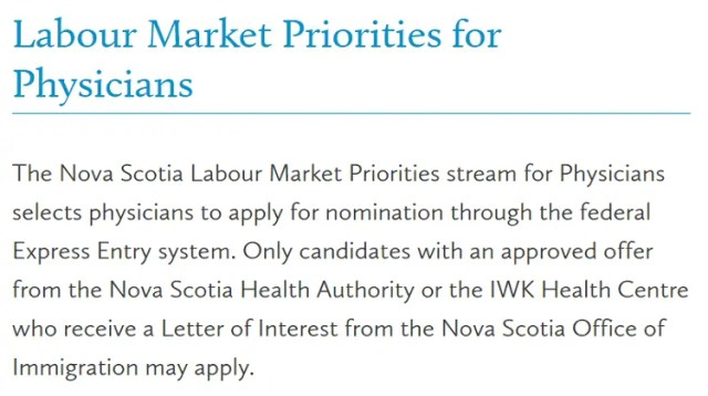 Labour Market Priorities for Physicians