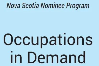 Ocupações em demanda em Nova Escocia