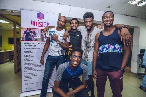 Hackathon winners, Team LeVRn. L-R Olumide Olajide, Abdulmalik Abdulwahab, Tade Ajiboye, Osarumen Osamuyi, Timi Ajiboye PC: Mohini Ufeli