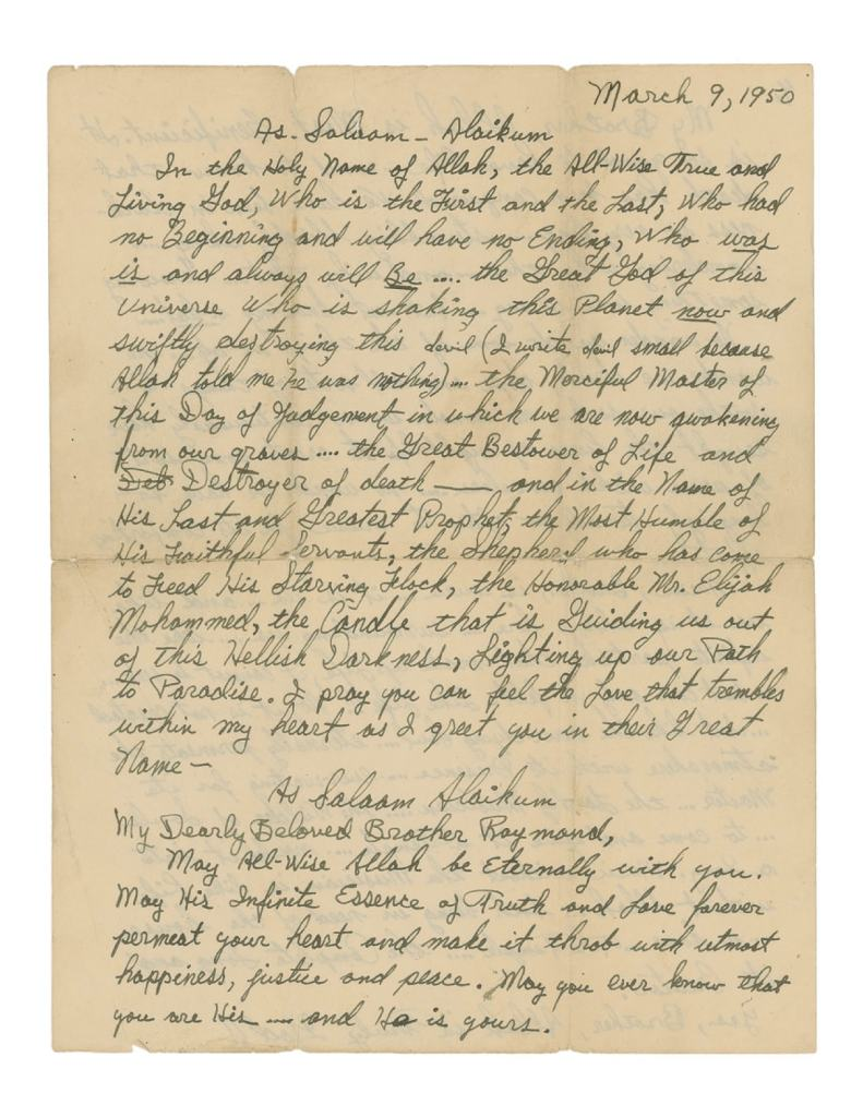Malcolm X Letter re Jazz and Sonny Stitt