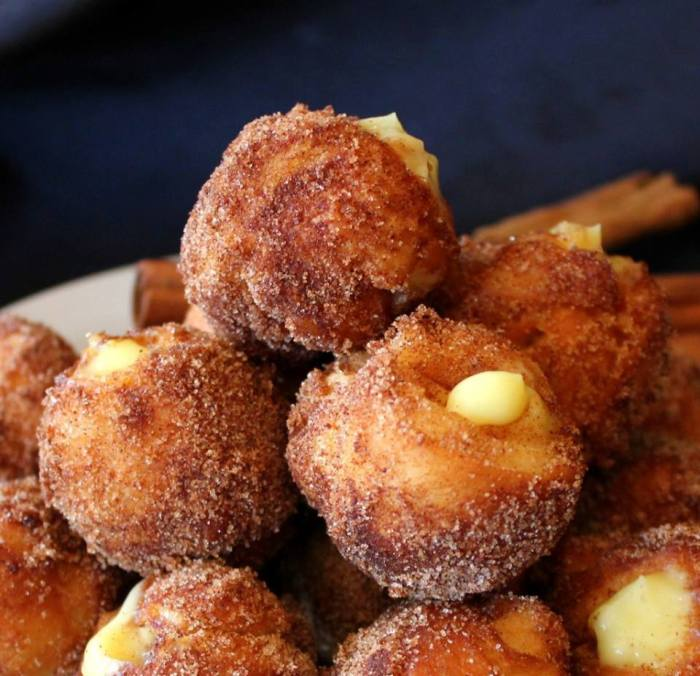 White Chocolate Snickerdoodle Poppers