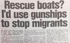 i'd use gunships to stop migrants
