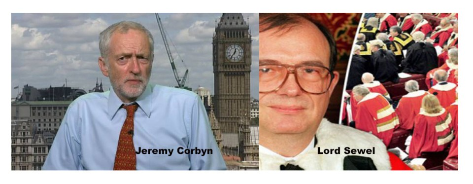 jeremy Corbyn and Lord Sewel