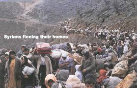 Syrians fleeing their homes