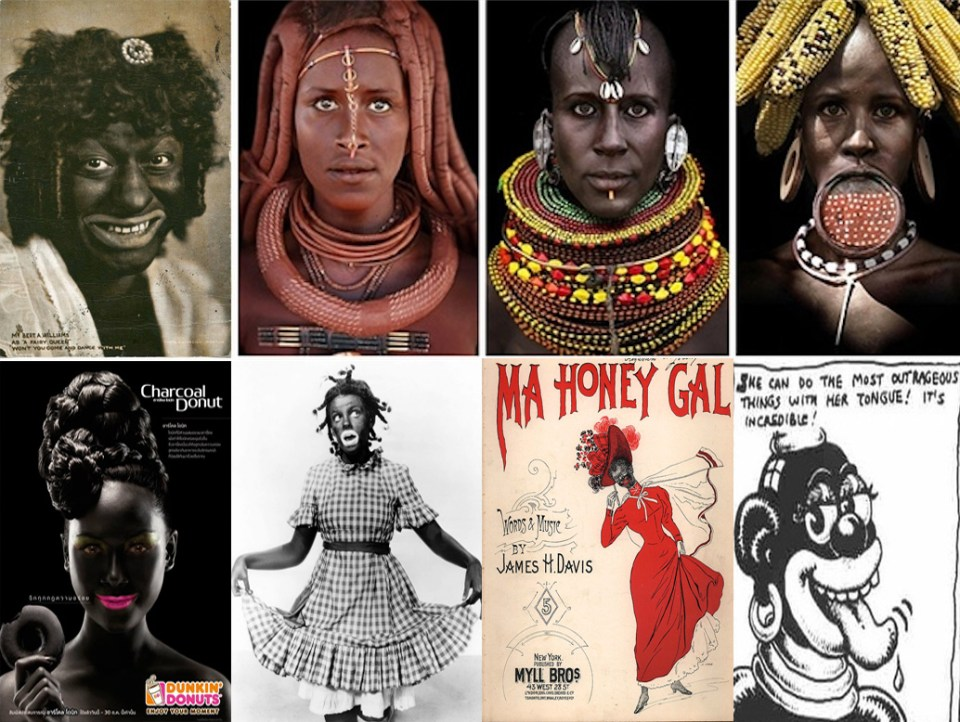 images of white people in blackface.
