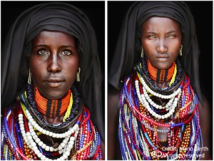 The original picture of a woman from the Arbore Tribe by Mario Gerth