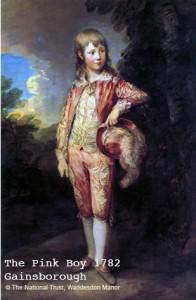 Gainsborough's The Pink Boy 1782