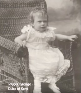 Prince George Future Duke of Kent as a child in a white dress | www.imjussayin.com