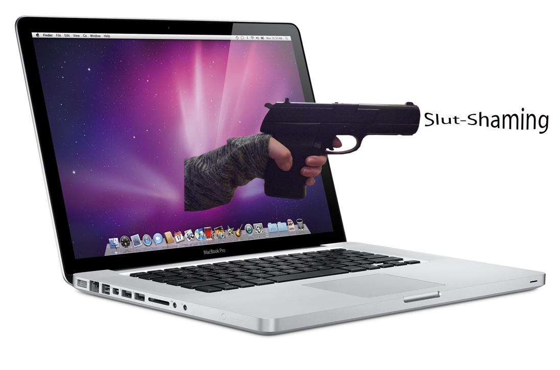 Gun coming through a computer screen Sex | www.imjussayin.com