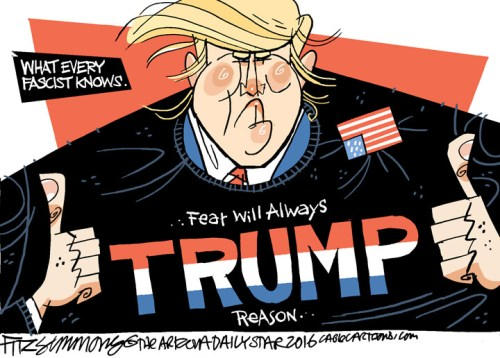 Trump Fear Cartoon | www.imjussayin.com