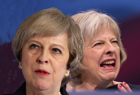 election 2017 the two faces of Theresa May | www.imjussayin.com
