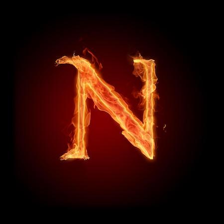 A burning N | www.imjussayin.com