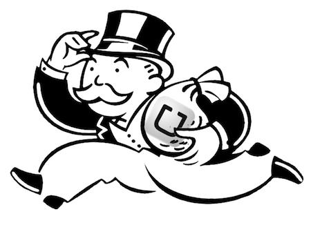uber monopoly man taking the money and running | www.imjussayin.com