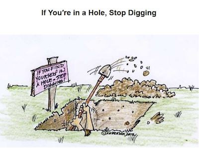 Hopkins Stop Digging when in a Hole | www.imjussayin.com