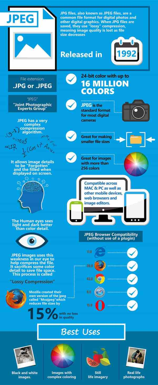 Know Your Image Formats – Mega Cheat Sheet Infographic