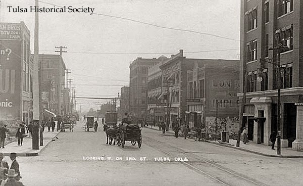 West on 3rd Street in Tulsa, Oklahoma 1900