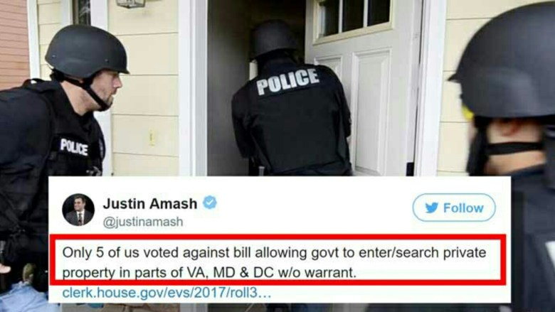 Representative Justin Amash, a Republican from Michigan, was 1 of only 5 Congressmen who voted against H J Rep 76