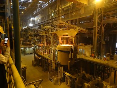 Visit to the Interpipe Steel factory, which has several commissioned artworks by Olafur Eliasson.