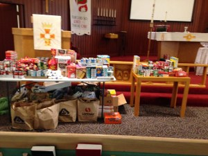 Tithing Made Visual: Food for our Families!