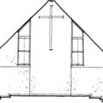 Sketch of front wall of chancel after construction