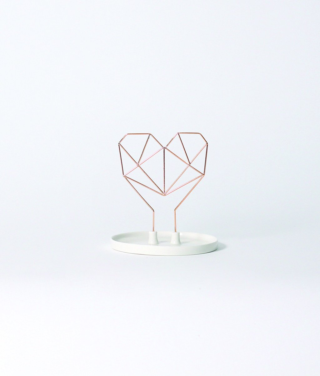 Coxet Wire Heart Ceramic Jewelry Holder - Imm Living