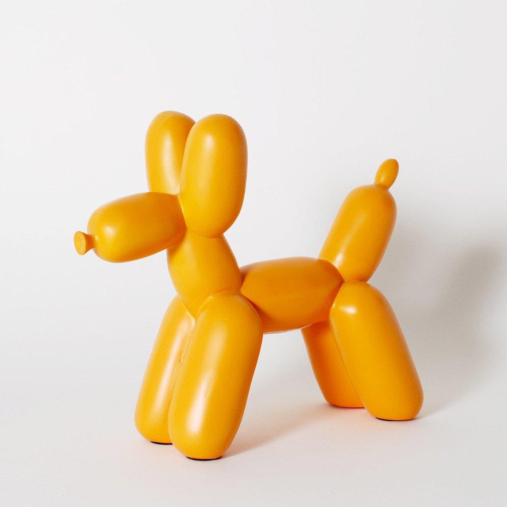 Big Top Balloon Dog Ceramic Bookend - Orange - Imm Living