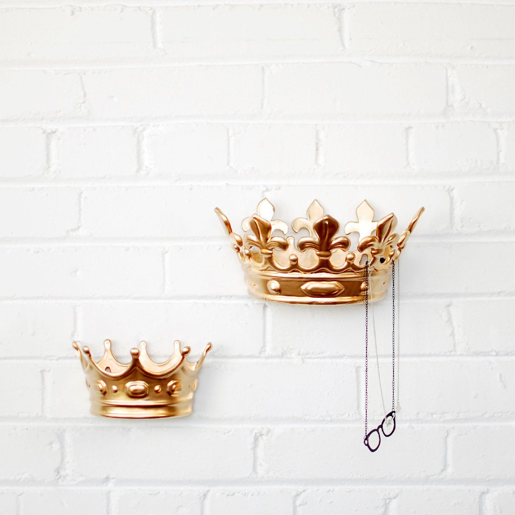 The Crown Jewels Small Crown Wall Jewelry Holder Imm Living