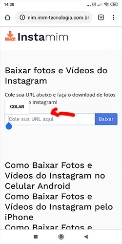 Como Baixar fotos do Instagram no Android