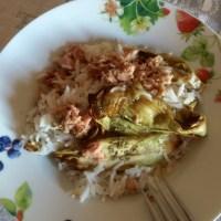 Insalata di riso basmati con tonno e melanzane grigliate