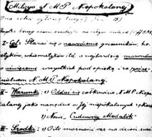 Zakládací listina M. I.