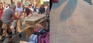 Symbolický návrat mariánského sloupu na Staroměstské náměstí