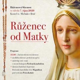 Růžencová slavnost 7.10.2020 <br>– u sv. Michala v Brně