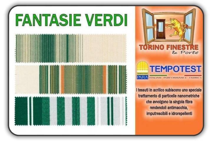 Iva, consegna e posa esclusi. Tessuti Tempotest In Acrilico Verdi Tende Da Sole Torino