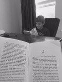Noah smiles everytime we read The Giver