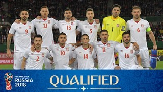 teamfoto voor Serbia