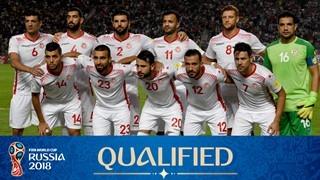 teamfoto voor Tunisia
