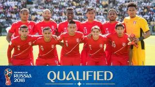 teamfoto voor Peru