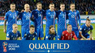 teamfoto voor Iceland