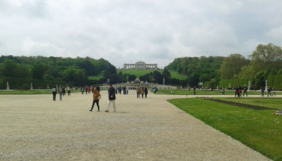 Hill of castle Schoenbrunn