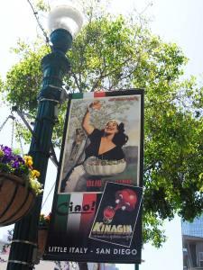 San Diego Little Italy Schild