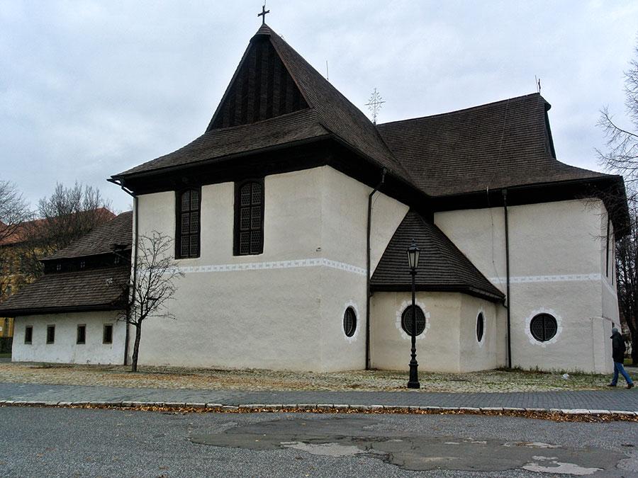 Ostslowakei evangelische Holzkirche in Kezmarok