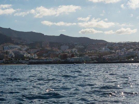 Teneriffa Urlaub - Las Americas vom Wasser aus