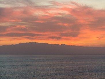 Teneriffa Urlaub - Sonnenuntergang vom Balkon aus