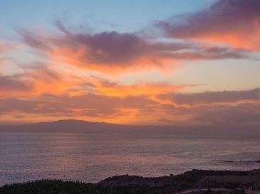 Teneriffa-feuriger-Sonnenuntergang